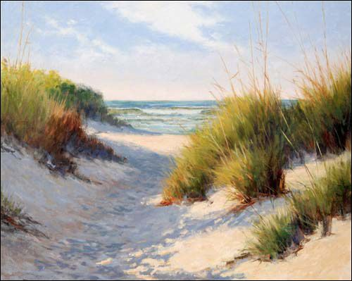 paintings of sea grass at the beach | say this scene epitomizes a perfect day spent at the beach, and ...