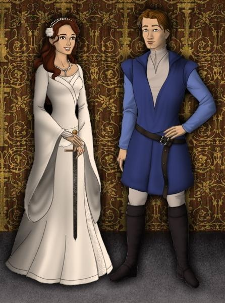kayley and garrett from quest for camelot design fashion
