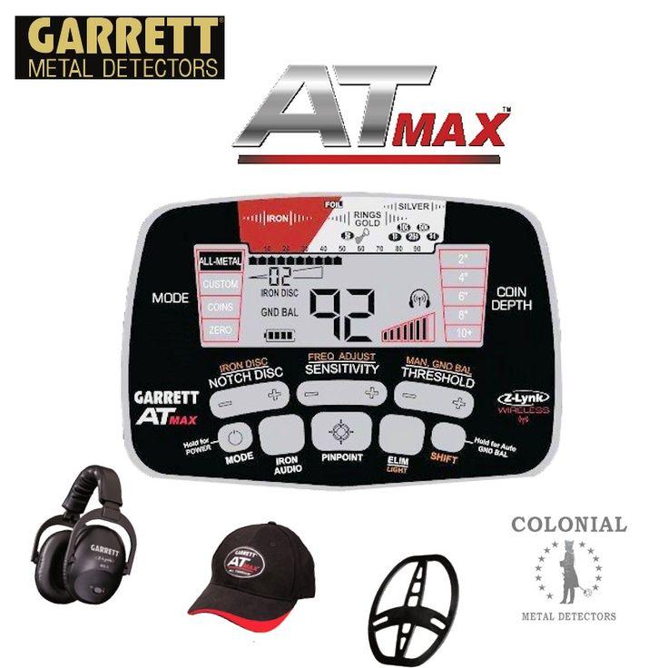 Garrett AT MAX Metal Detector | Colonialmetaldetectors.com
