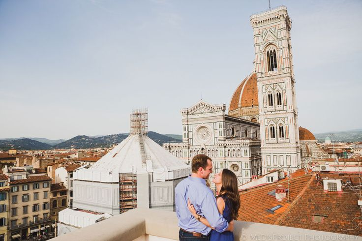 couple standing in front of florence cathedral