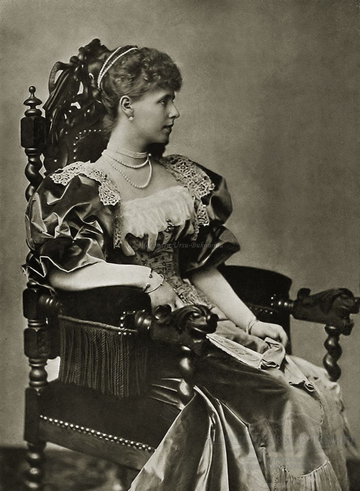 Marie as Crown Princess of Romania, 1893. This is the first photograph of Marie taken in Romania.