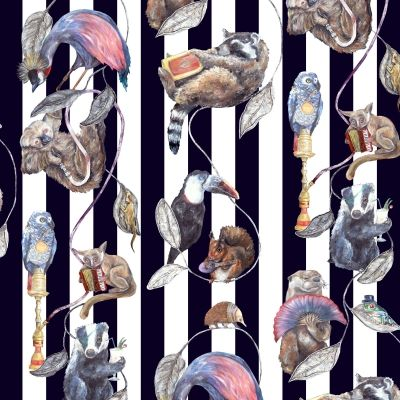 Hackney Empire Stripe (H1104-4) - House Of Hackney Wallpapers