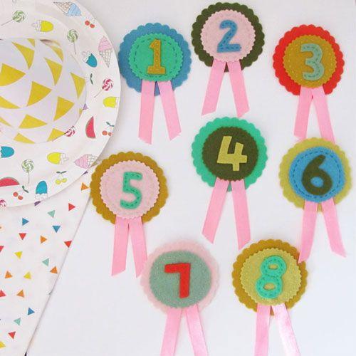 birthday rosette badges