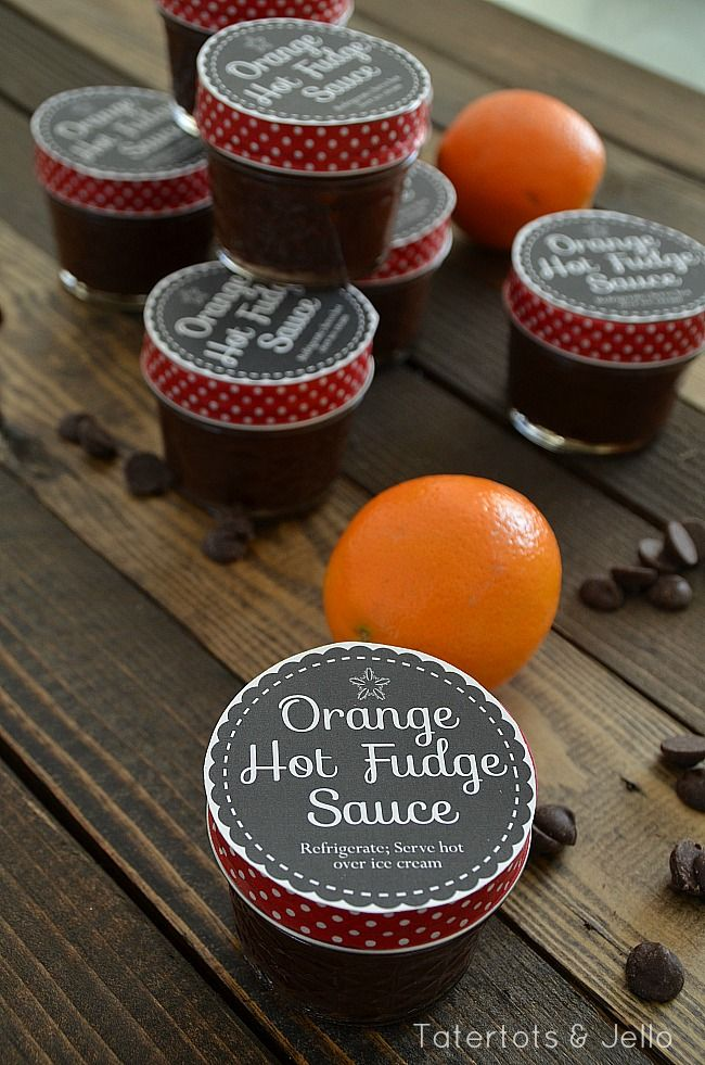 Orange Hot Fudge Sauce Gift Idea with Free Printables #SwellNoel | DIY ...