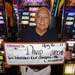 Congratulations to David from Texas––on August 16 he won $2,400 playing a Double Top Dollar slot game!