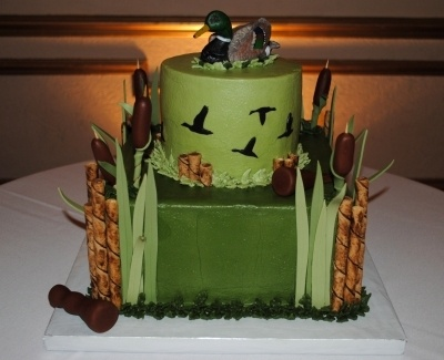 Duck Hunting Grooms Cake By SCCB on CakeCentral.com. Perfect for boo!!!