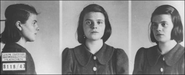 Gestapo photographs of Sophie Scholl (18th February, 1943)