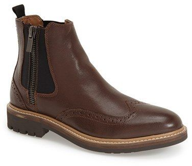 $150, Calvin Klein Jeans Calvin Klein Terris Brogue Chelsea Boot. Sold by Nordstrom. Click for more info: https://lookastic.com/men/shop_items/342824/redirect