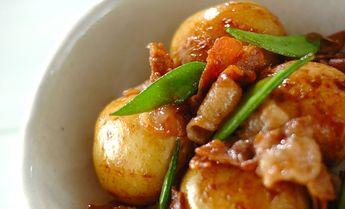 新ジャガと豚の煮っころがし【E・レシピ】料理のプロが作る簡単レシピ/2009.06.09公開のレシピです。