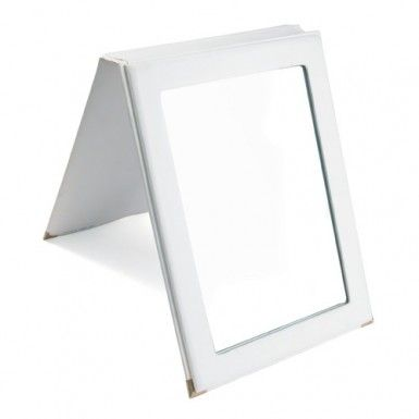 Faux Leather Mirror, 7 1/4''W x 10''H