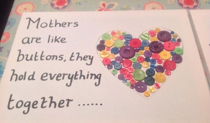 Mothers day craft with buttons mothers day pinterest for Mothers day cards from preschoolers