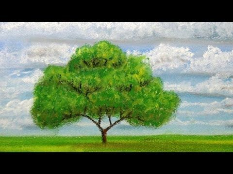 How to draw clouds with pastels - YouTube