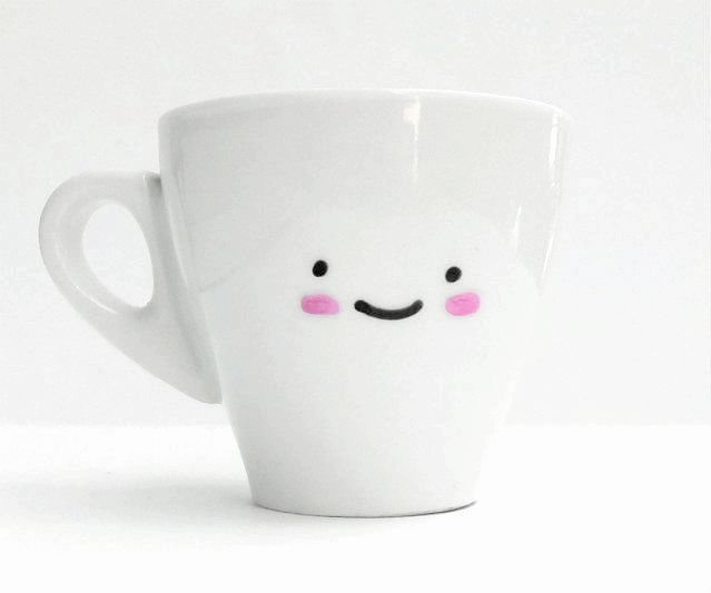 This super cute DIY kawaii espresso cup would make a great homemade Christmas gift paired with the recipient's favorite brand of espresso!