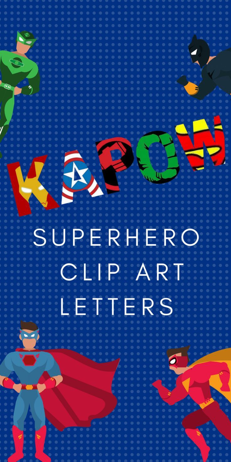 graphic about Free Printable Clip Art Letters called No cost Printable Superhero Alphabet Letters Totally free Printables
