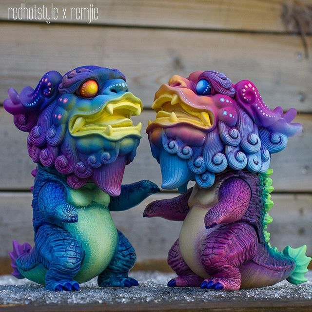 """RedHotStyle x Remjie - """"Thundercloud"""" edition Kilin sofubi one-offs!"""
