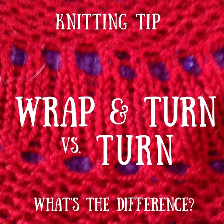 wrap and turn knitting instructions