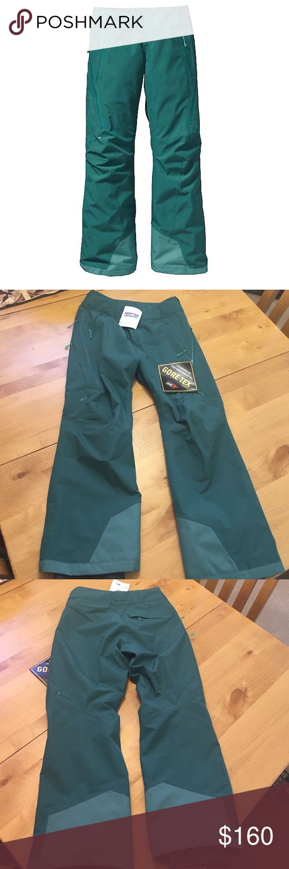 NWT Patagonia ski pants Patagonia Powderbowl Pant. Brand new, tags on. Women's medium, Arbor Green. Bought at the Patagonia outlet and never wore them. Make an offer! Patagonia Pants