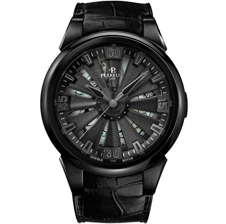 Perrelet horloge uit Zwitserland, Turbine Snake automaat limited edition 99 stuks wereldwijd met alligator lederen band €8850,-  www.juweelco.nl