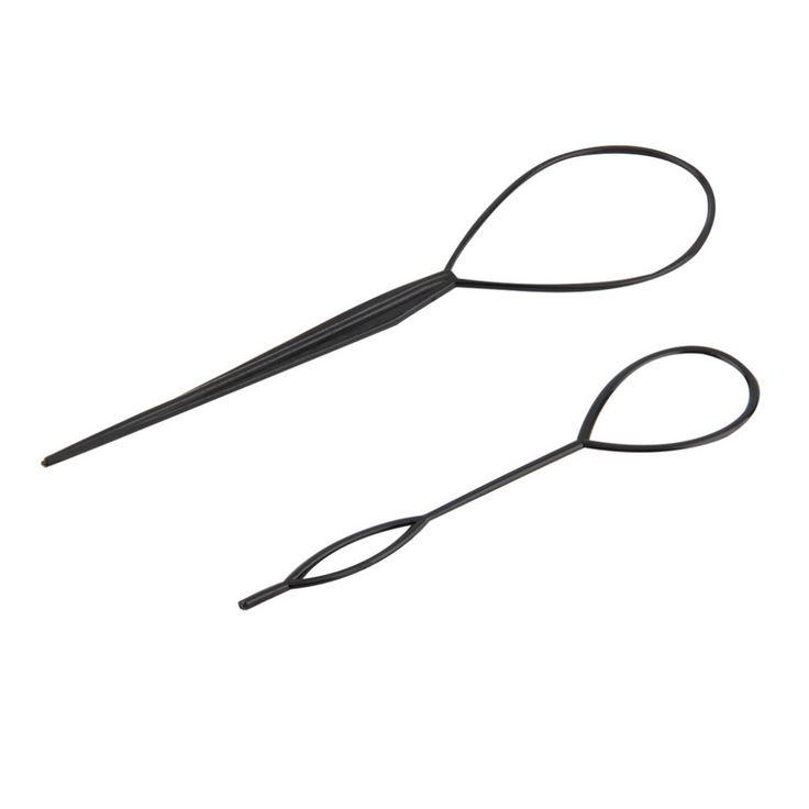 2pcs Magic Topsy Tail Hair Braid Styling Clip Tool Tail Clip Headwear Fashion Salon Accessory Twist Braid Ponytail Maker #H13