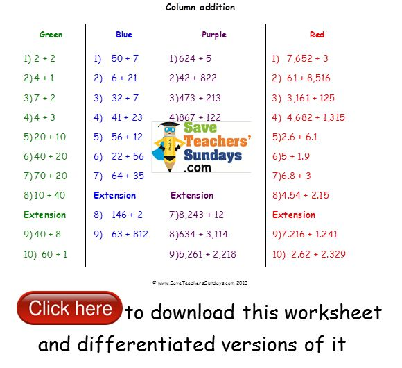 Best Addition And Subtraction Worksheets Images On