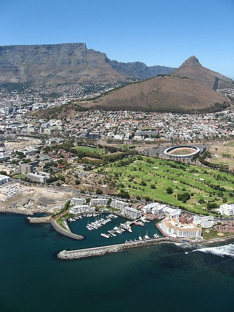 birdseye view of cape town: greenpoint stadium