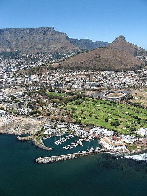 birdseye view of cape town: greenpoint stadium