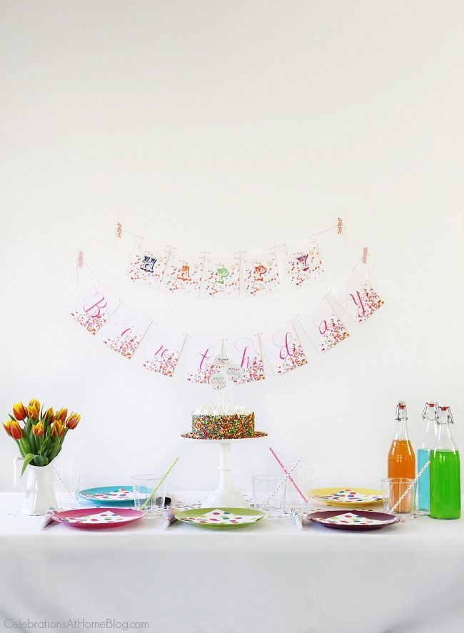 A confetti themed birthday party is perfect