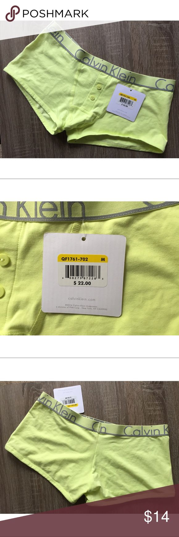 CALVIN KLEIN BOY SHORTS BRAND NEW MEDIUM 🔰ITEM: Calvin Klein Boyshorts  🔰CONDITION: Brand New with Tags 🔰COLOR: NEON YELLOW 🔰SIZE: Medium   PRICE IS FIRM! No trades. No outside transactions. I ship same day if purchased by 2pm est. Bundle 2+ items for a discount! 😉 Calvin Klein Intimates & Sleepwear Panties