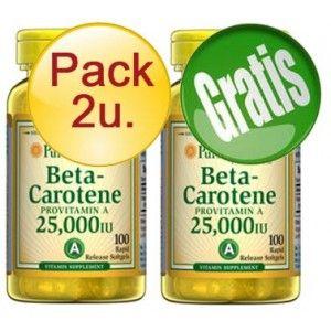 PACK 2U+1 BETACAROTENO  100 PERLAS 25000 UI