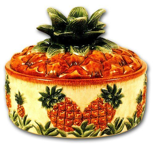 Ceramic Pineapple Table Top Tortilla Keeper Canister . $32.99