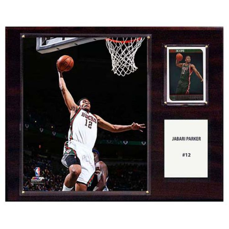 C and I Collectables NBA 15W x 12H in. Jabari Parker Milwaukee Bucks Player Plaque - 1215JPARKER