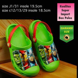 Sandal Anak Crocs Avenger Hijau