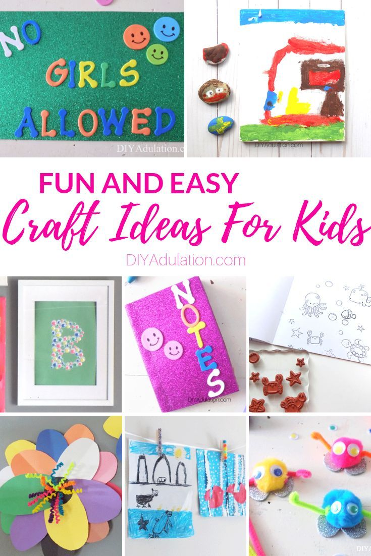Low And No Prep Easy Craft Ideas For Kids Crafts Craft