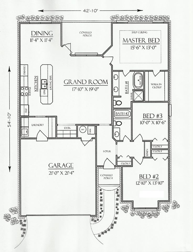 Cottage Country European House Plan 74702
