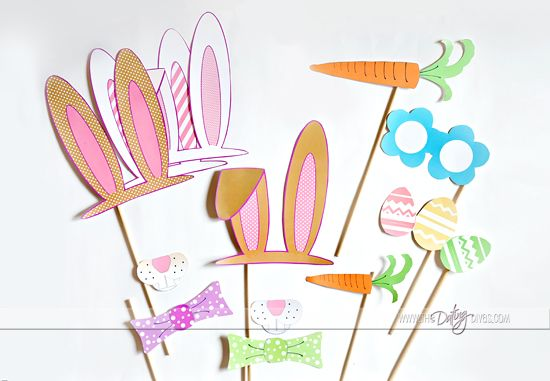 Easter photo booth props! Can't wait to make these!