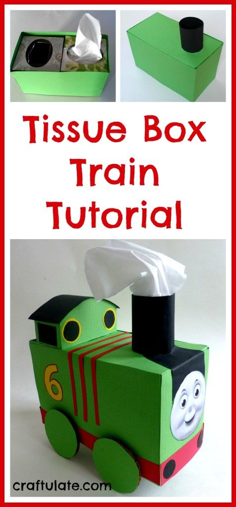 Tissue Box Train Tutorial // Tren de cajas de pañuelos descartables