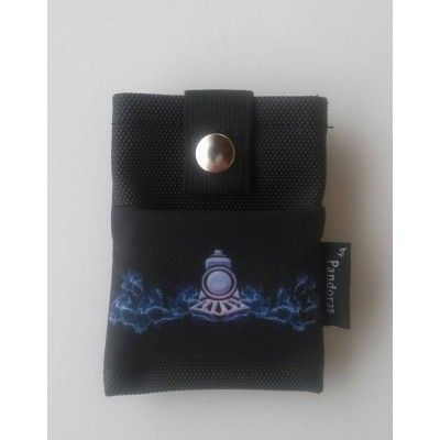 Belt Pouch with logo-Black