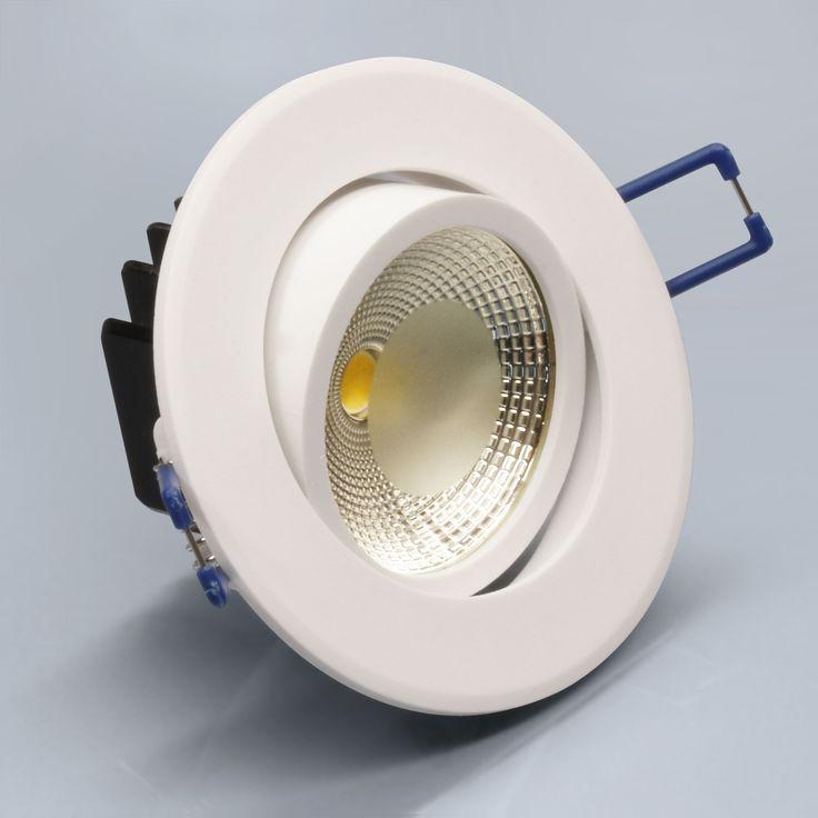 LED Einbaustrahler Alu-Druckguss, Kunststoff Weiß 5 Watt L0930E