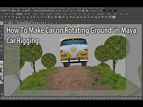 How To Make Car on Rotating Ground in Maya (무한 회전하는 지형 만들기) - YouTube