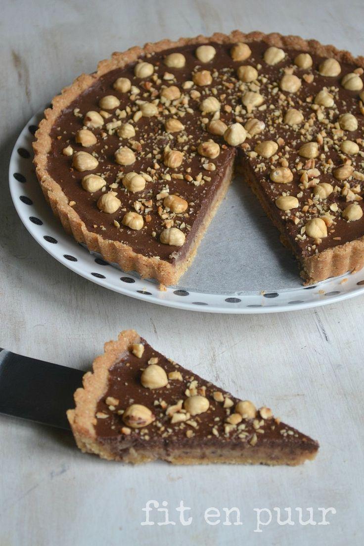 Hazelnoten chocolade taart | Fit en puur | Recepten voor gezonde voeding vaak glutenvrij, lactosevrij en geraffineerde suikervrij