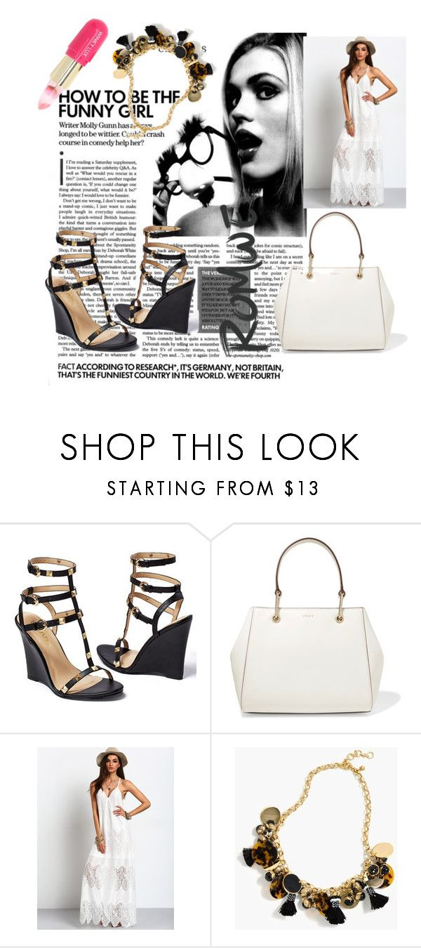 """Untitled #64"" by korina66 ❤ liked on Polyvore featuring Venus, DKNY, J.Crew and Winky Lux"