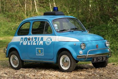 Fiat 500 Police Car. Used for chasing pedestrians