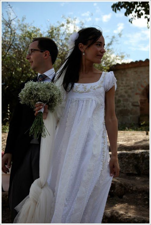this is cute...very pride and prejudice-y. minus the giant knotted veil thing :)