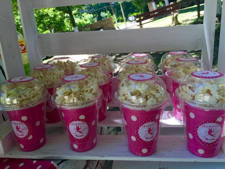 Baptism decoration popcorn