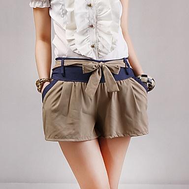 Mujer Pantalones de color bloque con detalle cinturón – EUR € 8.65