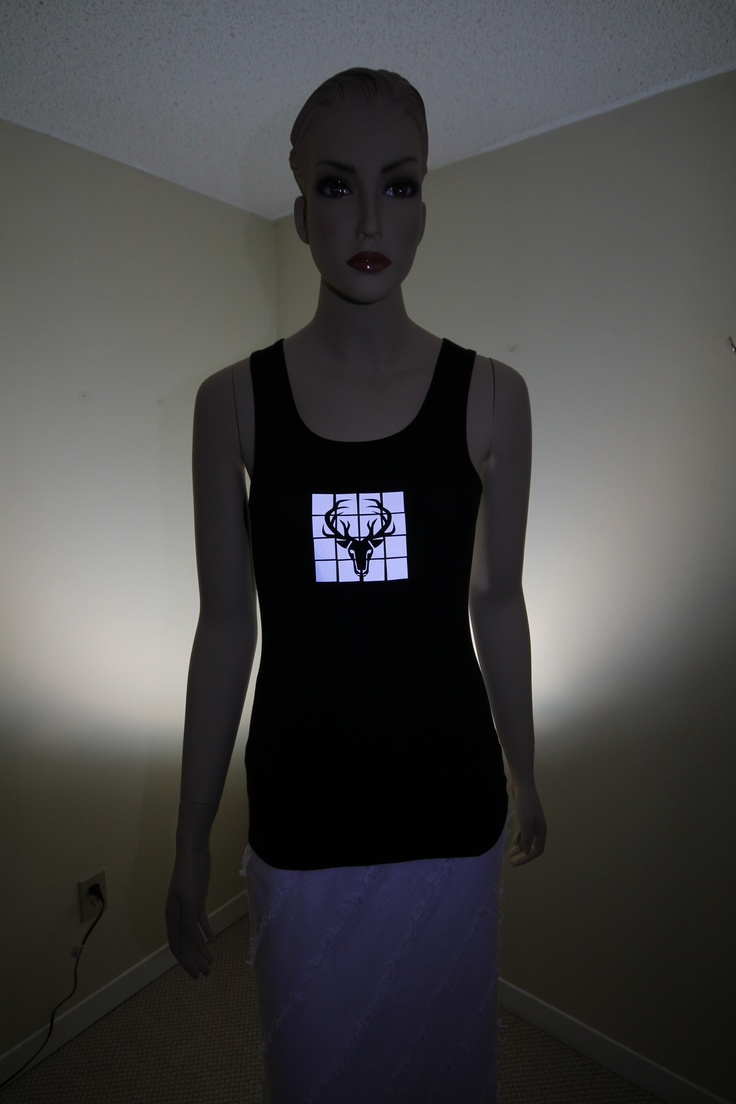 Look at the gorgeous glow of this shirt at night! Great safety addition to your wardrobe.