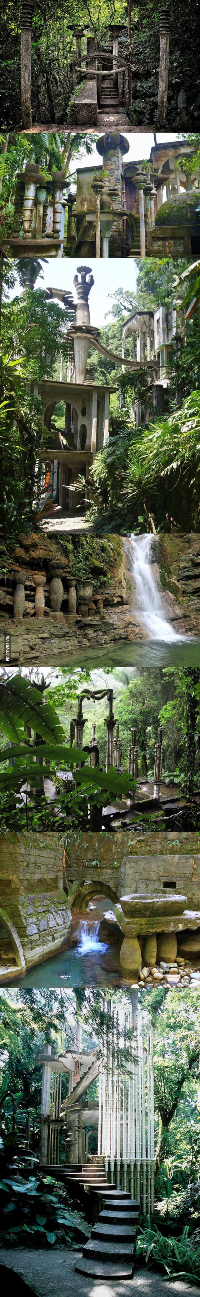 One of the most awe-inspiring places on earth is in Mexico.  Xilitla in San Luis Potosí, México