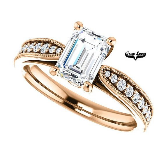 14 kt. Rose Gold Solitaire Radiant Cut Forever by TrekJewellers