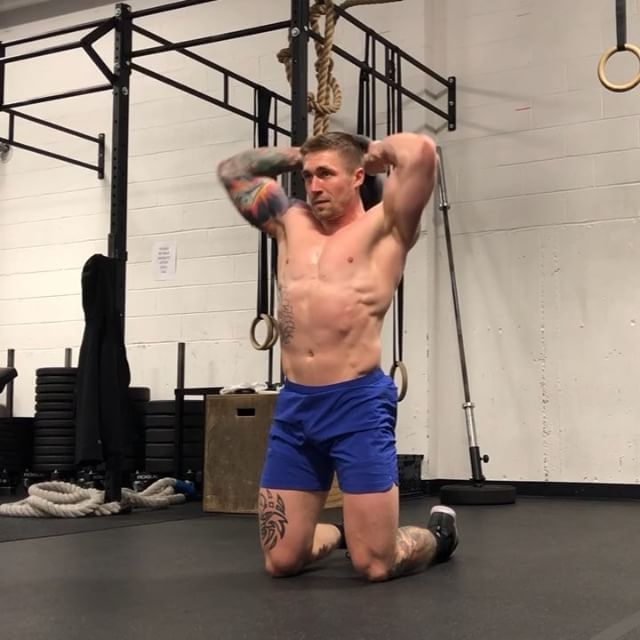 Kneeling Halo To Body Clean I Really Love This Movement Shoulder Mobility Midline Stability And Aggressive Hip Full Body Workout Clean Body Fitness Body