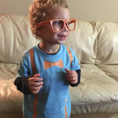 Blippi Shirt And Glasses Auggie 3rd Birthday Parties